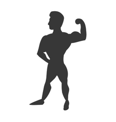Muscle man icon bodybuilder design vector