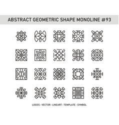 Abstract geometric shape monoline 93 vector