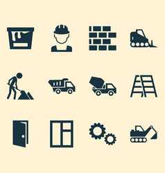 architecture icons set collection of paint bucket vector image