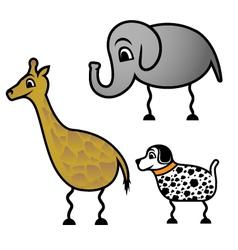 Balloon animals vector