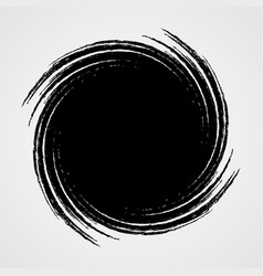 Black spiral swirl circle vector