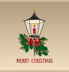 Christmas card Christmas lamp vector image