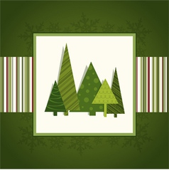 Christmas green card vector image vector image