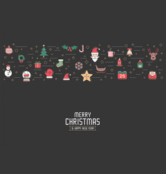 christmas greeting card or invitation background vector image vector image