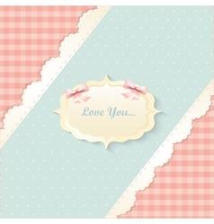 classic romantic invitation design yellow vector image vector image