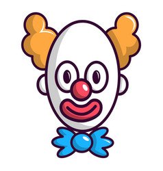 Clown with big eye icon cartoon style vector