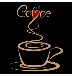 Coffee love vector image vector image
