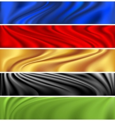 colorful modern banner set vector image vector image