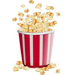 Full paper glass popcorn vector image vector image