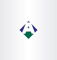 Green blue letter a arrow logo icon symbol vector