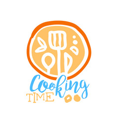 Handmade abstract cooking logo template with vector