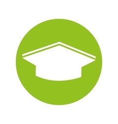 Hat graduation isolated icon vector