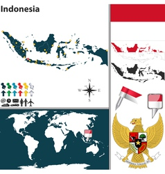 Indonesia map world vector