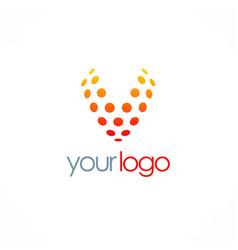 letter v dot logo vector image