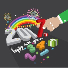 New year celebrate 2017 vector