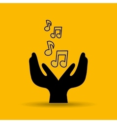 Note music musical hand holding vector