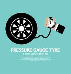 Pressure Gauge Tyre vector image