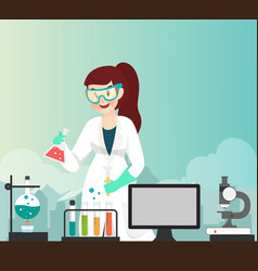 Scientist having experiment about chemical vector