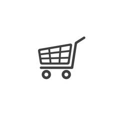 shopping cart trolley vector image
