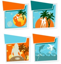 summer vacation icons vector image vector image