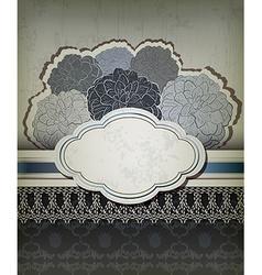 Vintage blue backdrop with frame vector