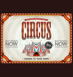 vintage old circus poster vector image vector image