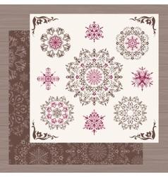 Vintage snowflakes vector image vector image