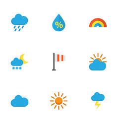 Weather flat icons set collection of frosty vector
