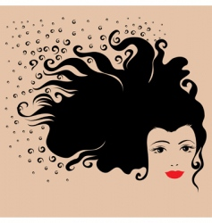 girl hair vector image