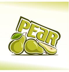 Pear still life vector