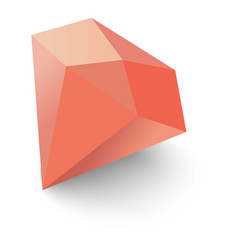 Ruby icon isometric 3d style vector