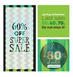 big sale banners ribbon vector image