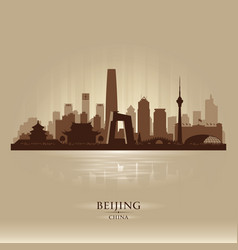Beijing china city skyline silhouette vector