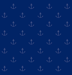 Seamless sea pattern with anchor vector