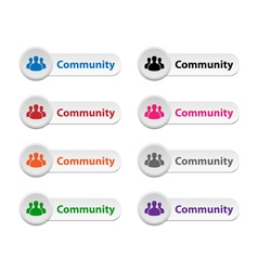 Community buttons vector
