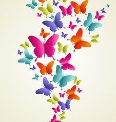 Butterfly colorful splash vector