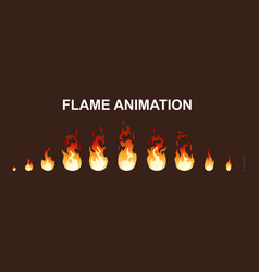Light fire flames animation collection vector