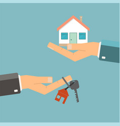 Real estate concept buying or rent home hands vector