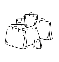 Few bags for shopping vector