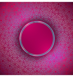 Round abstract frame vector