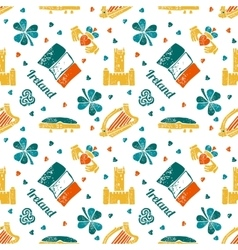 Ireland seamless pattern vector
