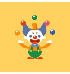 Happy clown juggling vector