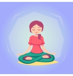 Woman cartoon yoga pose skill vector