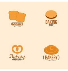 Delicious bakery labels vector
