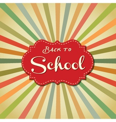 Back to school image vector