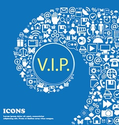 Vip sign icon membership symbol very important vector