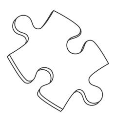 Puzzle piece icon vector