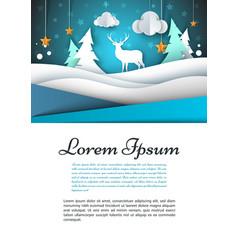 A4 template winter landscape fir vector
