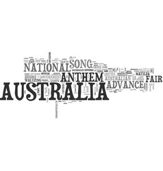Advance australia fair text word cloud concept vector