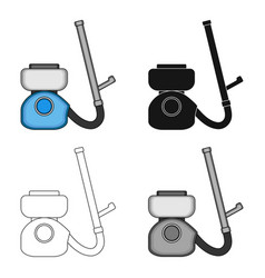 Apparatus for disinfection single icon in cartoon vector